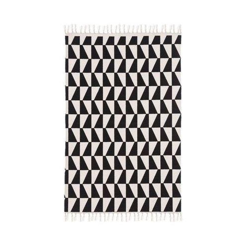Inspire Dywan bawełniany gia czarny 60 x 90 cm