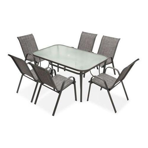 Meble stołowe do ogrodu Modena Szary dla 6 osób Garden Point (5903332903641)
