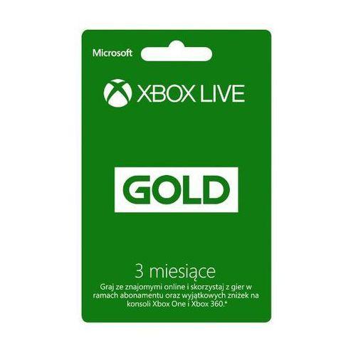 Subskrypcja xbox live gold (3 m-ce karta zdrapka) - produkt w magazynie - szybka wysyłka! marki Microsoft