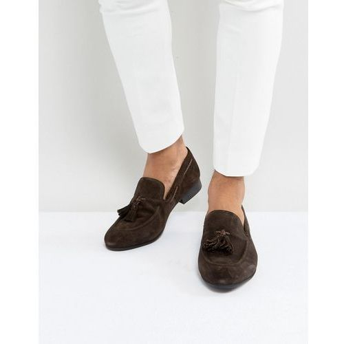 tassel loafers brown suede - brown, Dune