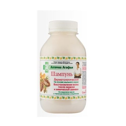 Babuszka Agafia Dermatologiczny szampon do włosów farbowanych i zniszczonych 300ml