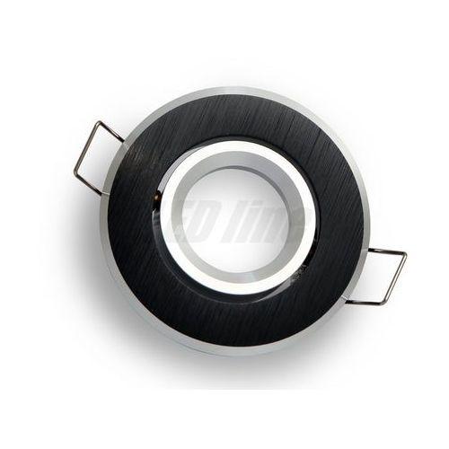 Oprawa halogenowa sufitowa okrągła ruchoma, aluminium, mr11 - czarna szczotkowana, marki Led line
