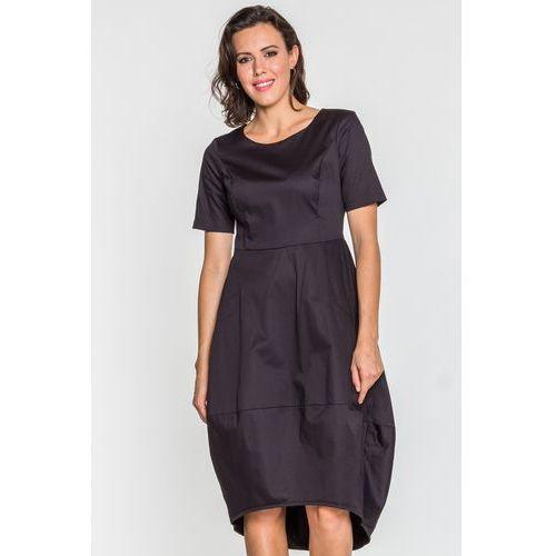 Czarna sukienka - Ryba, 1 rozmiar