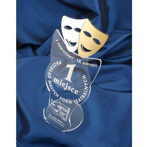 Statuetka maski teatru - przegląd form teatralnych - model dta6 - wysokość 25 cm marki Grawernia.pl - grawerowanie i wycinanie laserem