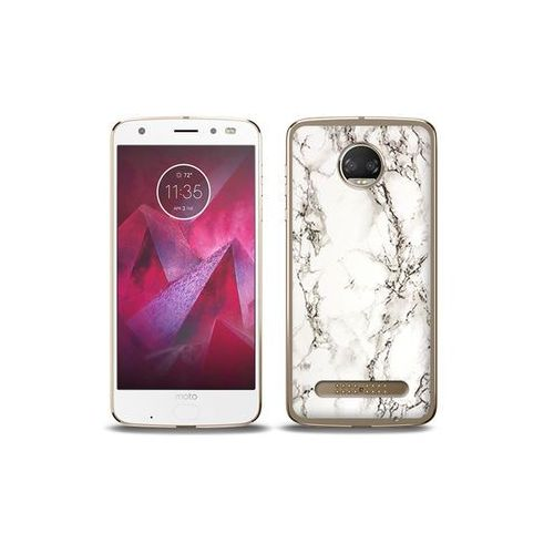 etuo Fantastic Case - Motorola Moto G6 Play - etui na telefon Fantastic Case - biały marmur, ETMT716FNTCFC028000