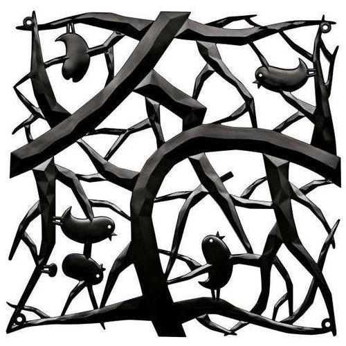 Panel dekoracyjny Pi:p - 4 sztuki w komplecie - kolor czarny, KOZIOL