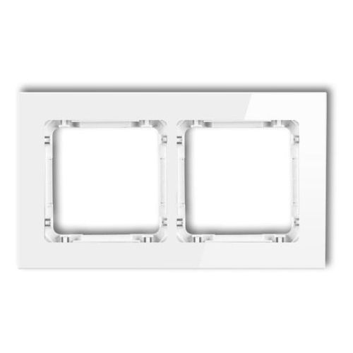 Karlik Ramka uniwersalna podwójna 0-0-drg-2 deco, biała, szklana (5907709771017)