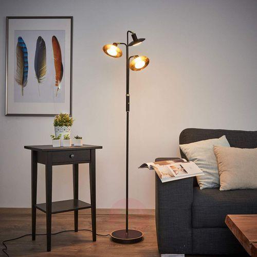 3-punktowa lampa stojąca LED, czarno-złoty (4251096528107)