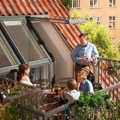 Velux Okno dachowe balkonowe gel-v21 veb 3065 m35 78x109 3-szybowe