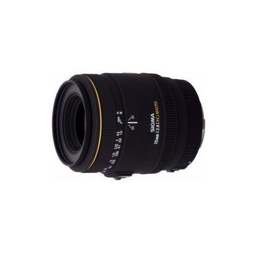 Sigma 70 mm f2.8 ex dg makro uv obiektyw z filtrem mocowanie sony a