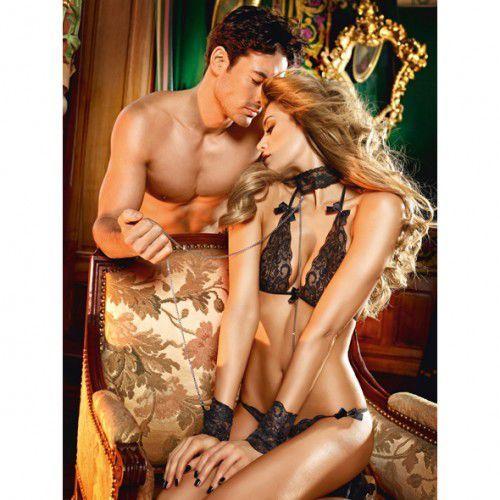 Baci lingerie Przebranie niewolnicy - baci lace love slave set one size, kategoria: kostiumy erotyczne