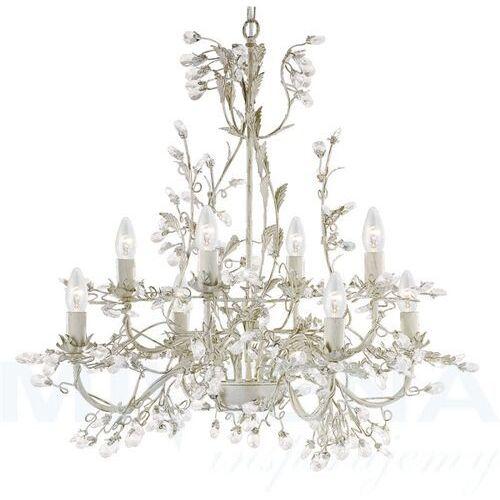 Almandite lampa wisząca 8 kremowe złoto kryształ, kolor złoty,