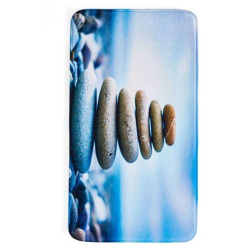 """Dywaniki łazienkowe """"kamienie"""", pianka memory niebieski marki Bonprix"""