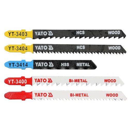 Brzeszczoty do wyrzynarki typ t, mix- do drewna i do metalu, 5 szt Yato YT-3445 - ZYSKAJ RABAT 30 ZŁ