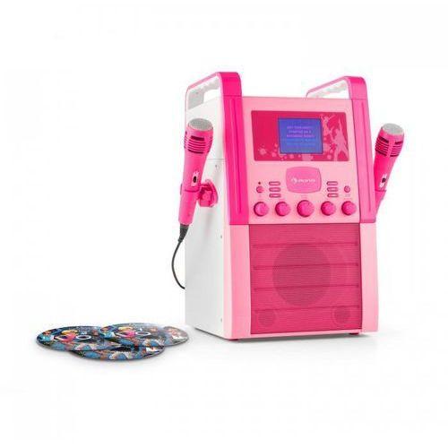 KA8P-V2 BK zestaw karaoke odtwarzacz CD AUX 2 x mikrofon3 CD + G do karaoke