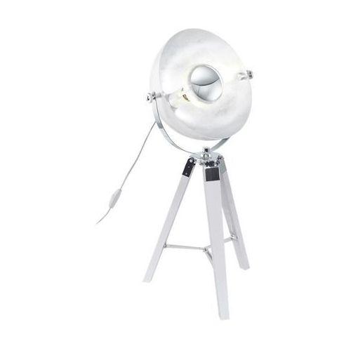 Eglo Lampa oprawa stołowa covaleda 1x60w e27 biały/chrom/srebrny 49876!!! wyprzedaż!! ostatnia sztuka!!