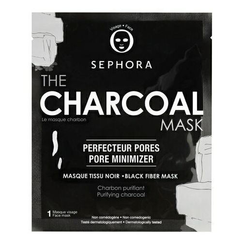 The charcoal mask - maseczka z węglem - maseczka z czarnej tkaniny marki Sephora collection