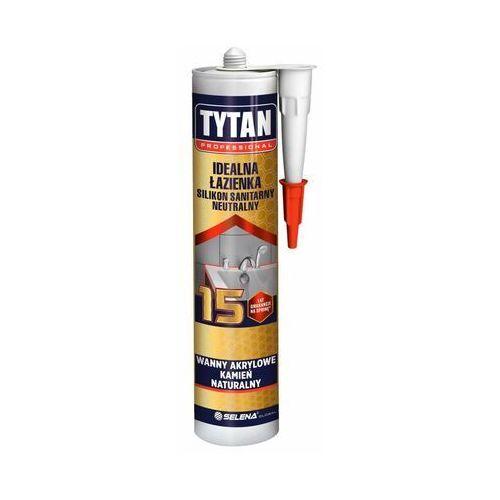 Silikon sanitarny idealna łazienka 280 ml bezbarwny marki Tytan