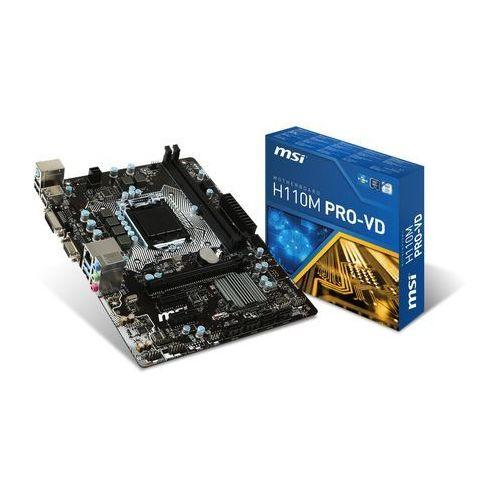 Płyta główna MSI H110M PRO-VD, H110, DDR4-2133, SATA3, DVI, VGA, M-ATX Szybka dostawa! Darmowy odbiór w 20 miastach!, H110M PRO-VD