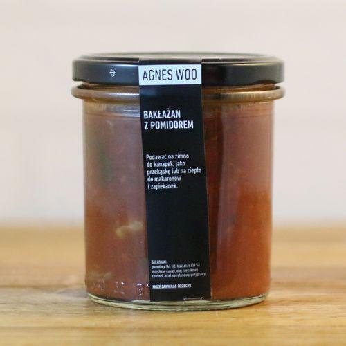 Bakłażan z pomidorami (warzywo, owoc)