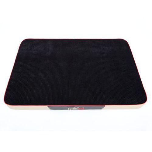 L Materac Premium - Czarny sztruks i beżowa eko skóra