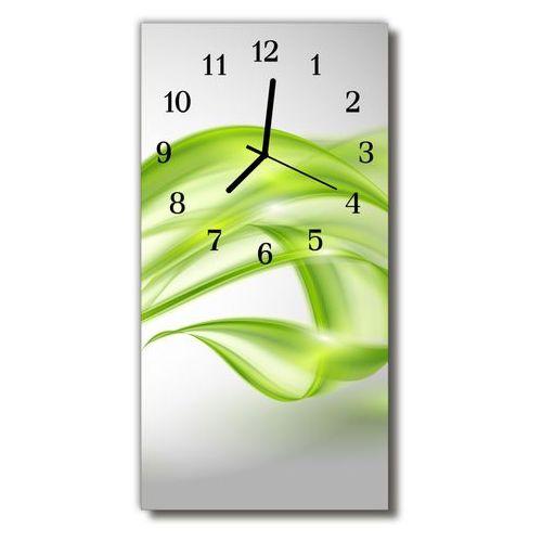 Zegar Szklany Pionowy Sztuka Abstrakcyjne linie zielony