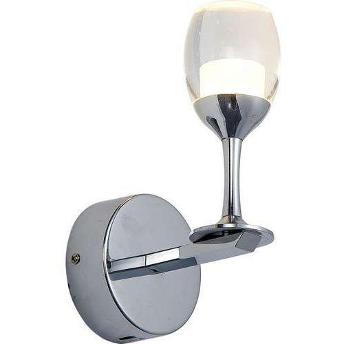 Kinkiet lampa ścienna coppa 0307 oprawa led 5w kieliszek chrom przezroczysty marki Milagro