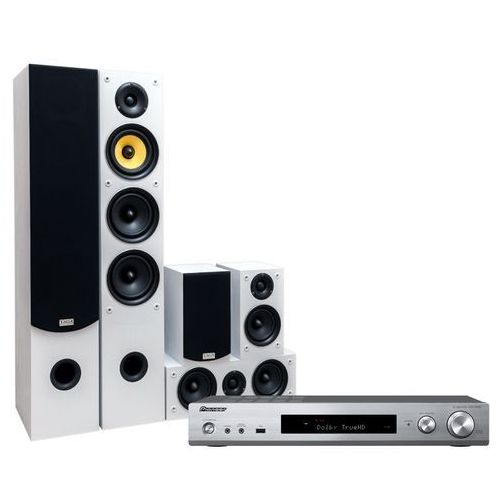 Kino domowe PIONEER VSX-S520-S + TAGA TAV506 Biały (2905148981809)
