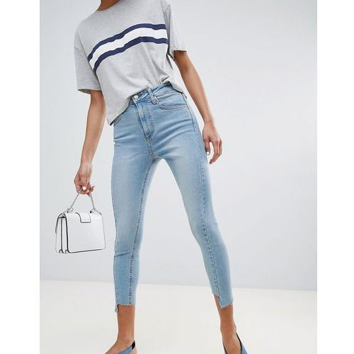 Stradivarius step hem jeans - blue