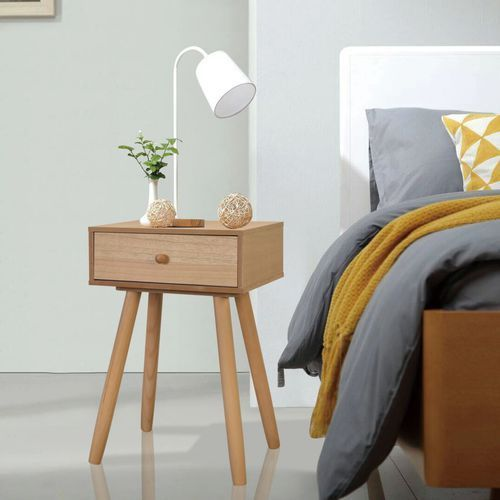 Vidaxl szafki nocne, 2 szt., drewno sosnowe, 40 x 30 x 61 cm, brązowe