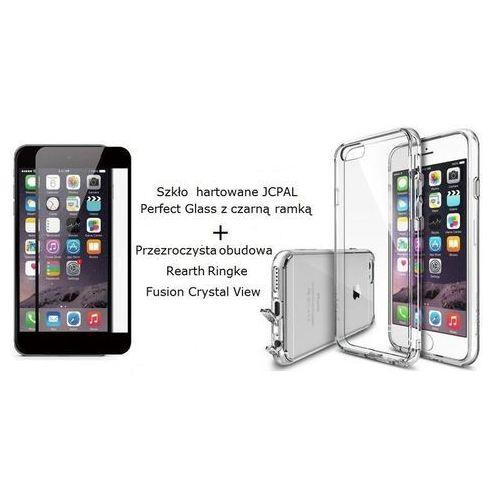 Zestaw szkło hartowane  perfect glass + obudowa rearth ringke fusion crystal view dla iphone 6 czarny/przezroczysty - czarny/przezroczysty marki Jcpal