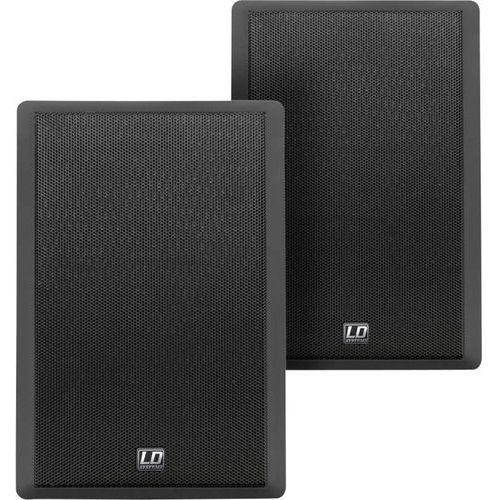 Głośnik ścienny  ldcwmss5b, 90 db, moc rms: 30 w, impedancja: 8 ohm, 100 - 20 000 hz, kolor: czarny marki Ld systems