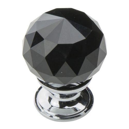 Schaffner Gałka kryształ kula duża czarna