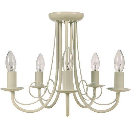 Plafon LAMPA sufitowa PERŁA LP-020/5P WH Light Prestige metalowa OPRAWA świecznikowa biała - produkt z kategorii- Plafony