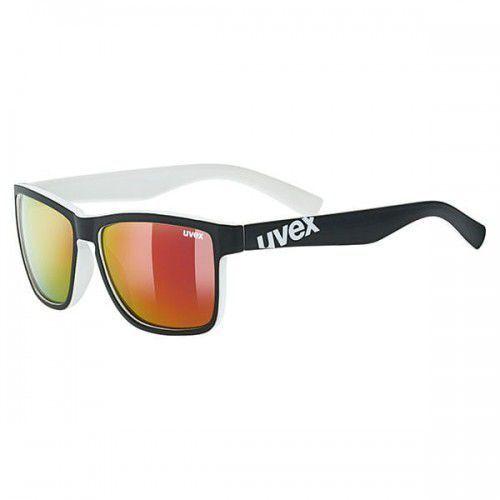 UVEX okulary lgl 39 (S3) black mat white (czarno białe) z szybą mirror red