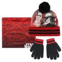 Cerda Komplet: czapka jesienna / zimowa, komin i rękawiczki star wars