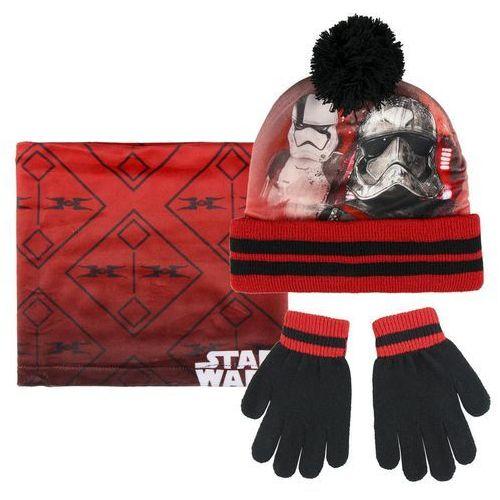Komplet: czapka jesienna / zimowa, komin i rękawiczki Star Wars