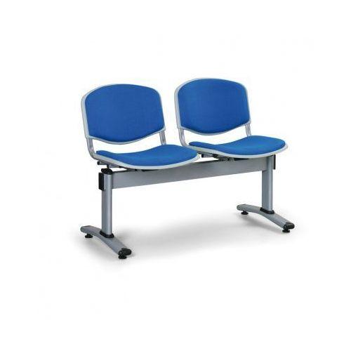 Ławka do poczekalni livorno, tapicerowana 2 siedzenia, niebieski marki Euroseat