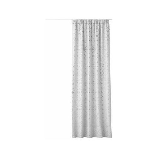 Zasłona glammy biała 140 x 250 cm na taśmie marki Action