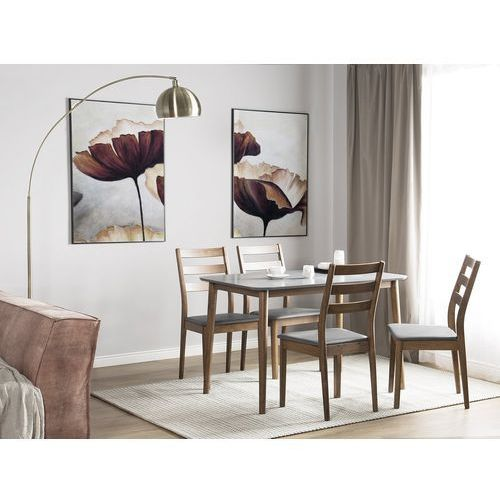 Zestaw do jadalni 2 krzesła brązowo-szare MODESTO