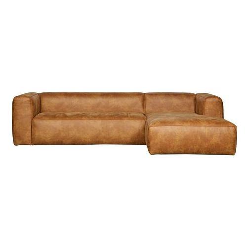 Woood Narożna skórzana sofa bean - różne warianty prawostronny