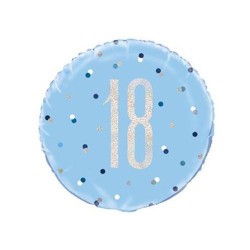 Balon foliowy niebieski - 18 - 46 cm - 1 szt. marki Unique