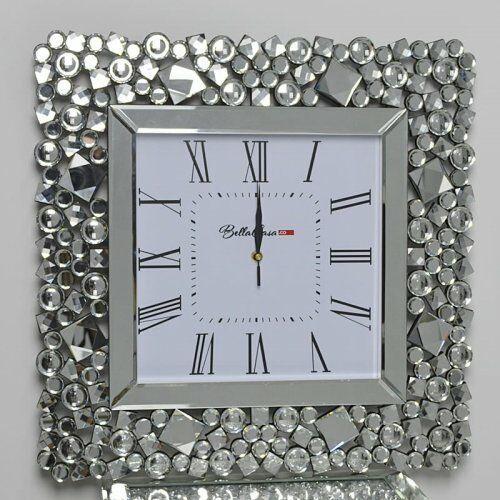 Kwadratowy zegar glamour C-0512 50x50x4,6 cm, C-0512/50X50X4,6
