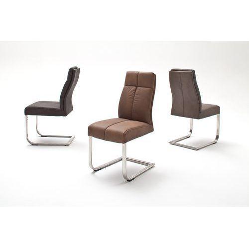 Krzesło LOU C na płozie, sześć wariantów kolorystycznych ekoskóry, kolor Krzesło