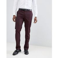 Mango man suit trousers in burgundy - red
