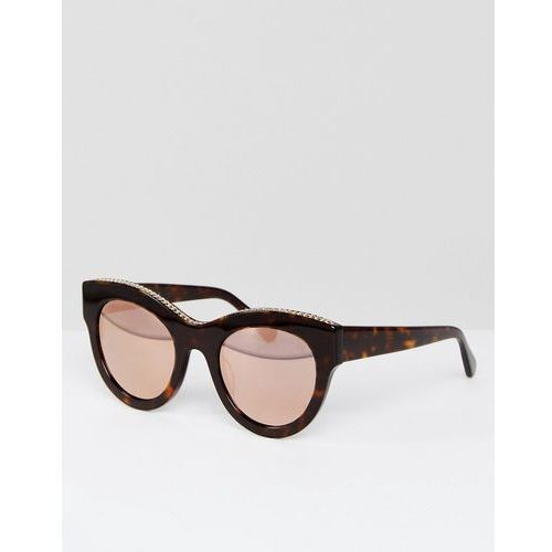 Stella mccartney sc0097s round sunglasses in black 50mm - black
