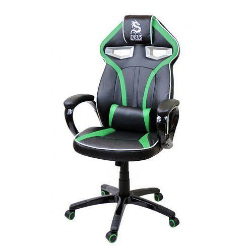 Fotel obrotowy gamingowy DRAGON Black/Green/Black, Dragon Black/Green/Black