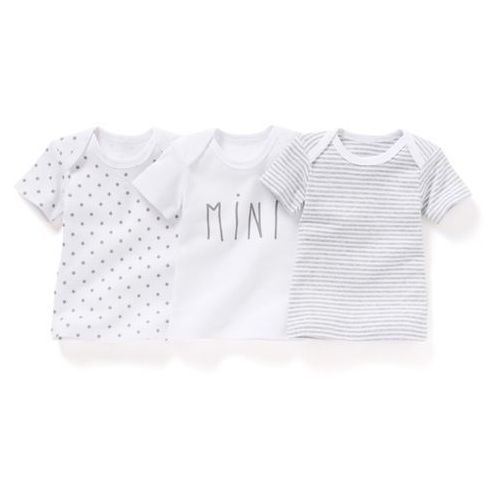 Komplet 3 koszulek z nadrukiem 0 miesięcy - 3 lata