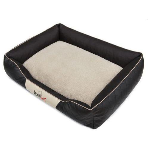 Hobbydog R4 legowisko cesarskie exclusive - czarne z beżową lamówką
