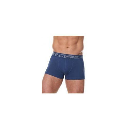 Bezszwowe bokserki męskie Brubeck Comfort Cotton BX10050 niebieskie, kolor niebieski